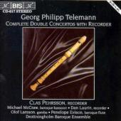 Album artwork for Telemann - Complete Double Concertos with Recorder