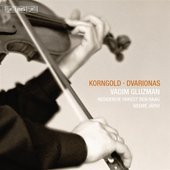 Album artwork for Korngold & Dvarionas: Violin Concertos / Gluzman