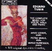 Album artwork for Tubin: Complete Music for Violin, Viola, and Piano