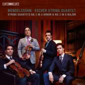 Album artwork for Mendelssohn: String Quartets Nos. 2 & 3