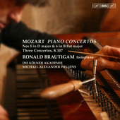 Album artwork for Mozart: Piano Concertos 5 & 6, etc / Brautigam