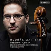 Album artwork for Dvorák - Martinu: Cello Concertos / Poltera