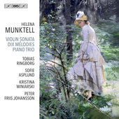 Album artwork for Helena Munktell: Dix Mélodies - Violin Sonata - P