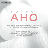 Album artwork for Aho: Concerto for Soprano Saxophone & Chamber Orch