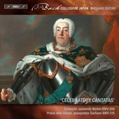 Album artwork for Bach: Celebratory Cantatas / Suzuki