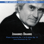 Album artwork for The Leygraf Archives, Vol. 1: Brahms — Piano Con