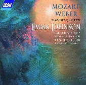 Album artwork for Mozart / Weber: Clarinet Quintets / Johnson