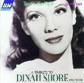 Album artwork for Dinah Shore:  Blues In The Night (A Tribute, 1940-