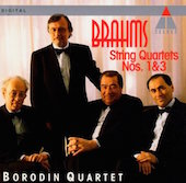 Album artwork for Brahms: String Quartets 1 & 3 / Borodin Quartet