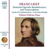 Album artwork for LISZT: DONIZETTI OPERATIC REMINISCENCES