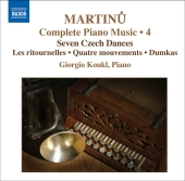 Album artwork for MARTINU: PIANO MUSIC, VOLUME 4