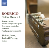 Album artwork for Rodrigo: Guitar Music Vol. 1 (Jeremy Jouve)
