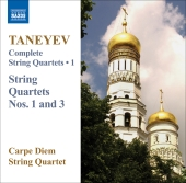 Album artwork for TANEYEV: STRING QUARTETS NOS 1 AND 3