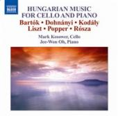 Album artwork for Hungarian Music for Cello and Piano