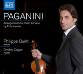 Album artwork for Paganini: Arrangements for Violin & Piano / Quint
