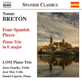 Album artwork for Breton: Four Spanish Pieces, Piano Trio in E major