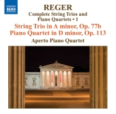 Album artwork for Reger: String Trios and Piano Quartets Vol. 1