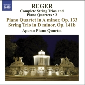Album artwork for Reger: String Trios and Piano Quartets Vol. 2
