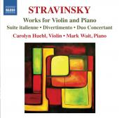 Album artwork for Stravinsky: Works for Violin and Piano