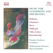 Album artwork for MUSIC FOR SAXOPHONE AND ORCHESTRA