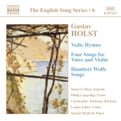 Album artwork for English Song Series 6 - Holst: Vedic Hymns, Songs