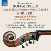 Album artwork for Hoffmeister: Double Bass Quartets Nos. 2-4