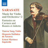 Album artwork for Sarasate: Music for Violin and Orchestra Volume 2