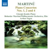 Album artwork for Martinu: Piano Concertos nos. 1, 2 and 4