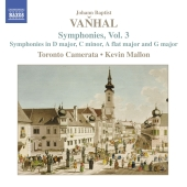 Album artwork for VANHAL: SYMPHONIES, VOLUME 3
