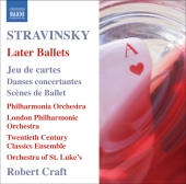 Album artwork for STRAVINSKY: LATER BALLETS