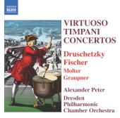 Album artwork for Virtuoso Timpani Concertos / Alexander Peter