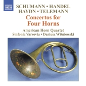 Album artwork for CONCERTOS FOR FOUR HORNS