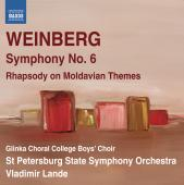 Album artwork for Weinberg: Symphony no. 6 / Rhapsody on Moldavian T