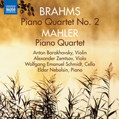 Album artwork for Brahms & Mahler: Piano Quartets