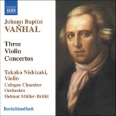 Album artwork for Vanhal: THREE VIOLIN CONCERTOS