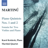 Album artwork for Martinu: Piano Quintets Nos. 1 & 2