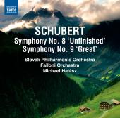 Album artwork for Schubert: Symphonies 8, 9 / Halasz