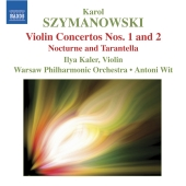 Album artwork for SZYMANOWSKI : VIOLIN CONCERTOS NOS. 1 & 2