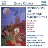 Album artwork for IMPRESSIONS FOR SAXOPHONE AND ORCHESTRA