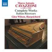 Album artwork for Cavazzoni: Complete Works - Italian Ricercars