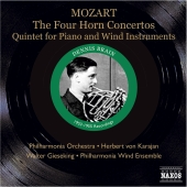 Album artwork for THE FOUR HORN CONCERTOS / QUINTET FOR PIANO AND WI