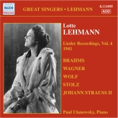 Album artwork for LOTTE LEHMANN: LIEDER RECORDINGS, VOL.4