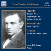 Album artwork for GREAT PIANISTS: FRIEDMAN