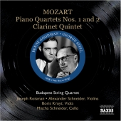 Album artwork for MOZART: PIANO QUARTETS 1 & 2 / CLARINET QUINTET