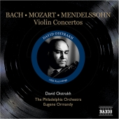 Album artwork for BACH/MOZART/MENDELSSOHN VIOLIN CONCERTOS