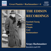 Album artwork for Rachmaninoff: Piano Solo Recordings, Vol. 4