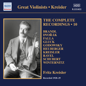 Album artwork for Kreisler: The Complete Recordings, Vol. 10 (1928-1