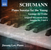 Album artwork for Schumann: Piano Sonatas for the Young / Lee