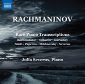Album artwork for Rachmaninoff: Rare Piano Transcriptions