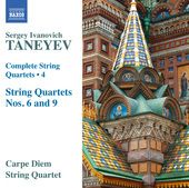 Album artwork for Taneyev: Complete String Quartets, Vol. 4